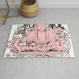 Sakura Buddha Rug
