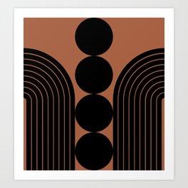 Abstraction_BLACK_LINE_PATTERN_PRIMITIVE_ART_001A Art Print