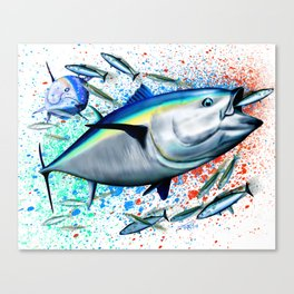Bluefin Blitz - Bluefin Tuna Canvas Print