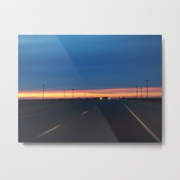 Lubbock Sunset Metal Print