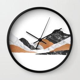 Marble Landscape II Wall Clock