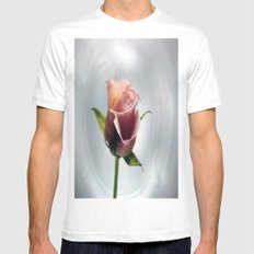 Rose Mens Fitted Tee White MEDIUM
