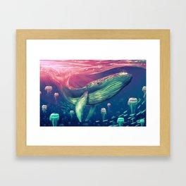 Life of Pi whale Framed Art Print
