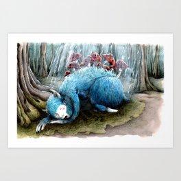 Sleepy Monster Art Print
