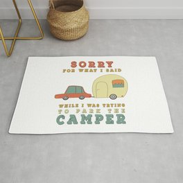 Camping Camper - Sorry For What I Said Vintage Retro Rug