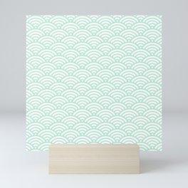 Mint Green Seigaiha Sea Wave Nautical Minimalist Spring Summer Mini Art Print