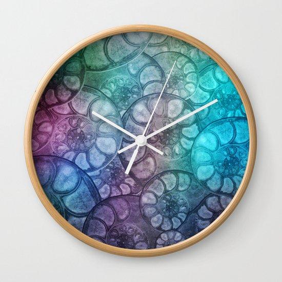 Fossil Shells Wall Clock