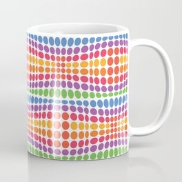 Dottywave - Rainbow wave dots pattern Coffee Mug