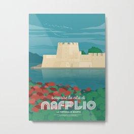 Nafplio, Bourtzi water castle (GR) Metal Print