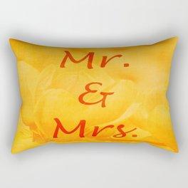 Mr. and Mrs. Rectangular Pillow