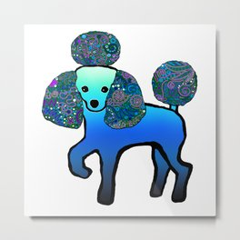 Divine Poodle Metal Print