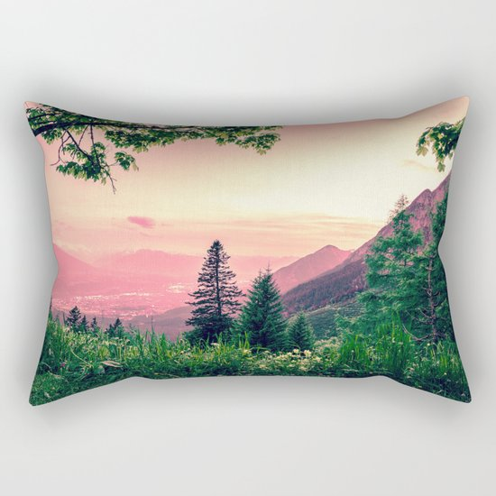 Alpine Fairytale Rectangular Pillow