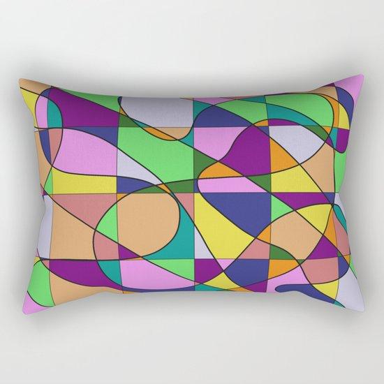 Pastel Pieces Rectangular Pillow