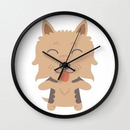 Silky Terrier Gift Idea Wall Clock