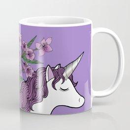 Unicorn in a Purple Garden Coffee Mug