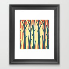 trees against the light 2 Framed Art Print