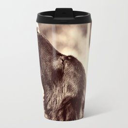 The love of a dog to man Travel Mug