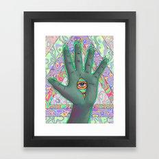 Psychedelic Hand Framed Art Print