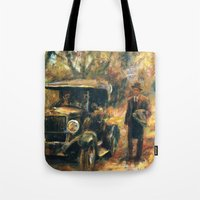 the godfather Tote Bags featuring The Godfather. Part Two by Miquel Cazanya