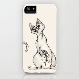 Cats with Tats v.1 iPhone Case