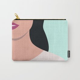 Modern Minimal Woman Illustration Carry-All Pouch