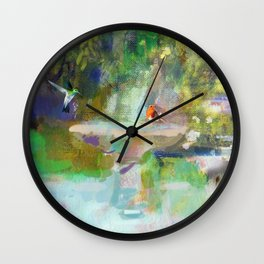 Spanish Garden Wall Clock