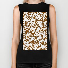 Spots - White and Chocolate Brown Biker Tank
