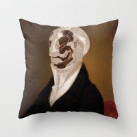 rorschach Throw Pillows featuring Rorschach by DIVIDUS DESIGN STUDIO