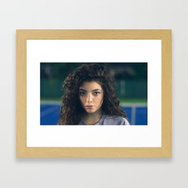 Lorde - Tennis Court Head Shot Framed Art Print