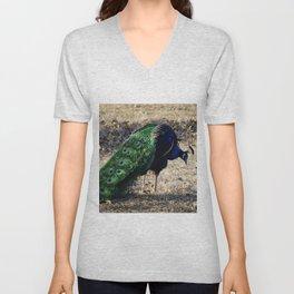 Peacock 2 Unisex V-Neck