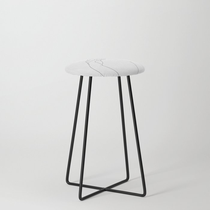Hands line drawing illustration - Abi Counter Stool