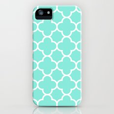 MOROCCAN {TEAL & WHITE} iPhone (5, 5s) Slim Case