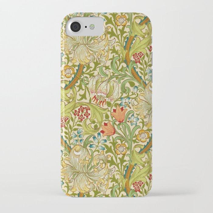 William Morris Golden Lily Vintage Pre-Raphaelite Floral Art iPhone Case