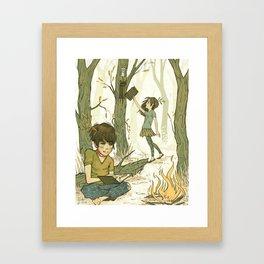 Loose Leaves Framed Art Print