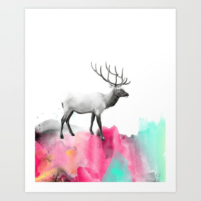 Discover the motif WILD NO. 2 // ELK by Amy Hamilton as a print at TOPPOSTER