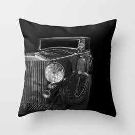 Old Classic Car Square Poster Throw Pillow