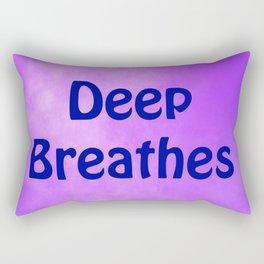 Deep Breathes Rectangular Pillow