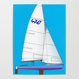 470 Olympic Sailboat Poster
