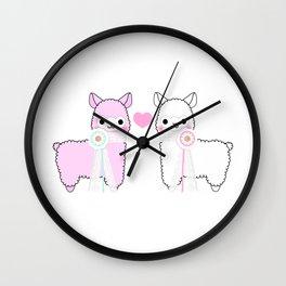 Alpaca Love Wall Clock