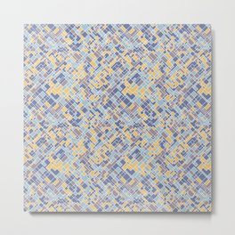Abstract square pattern Metal Print