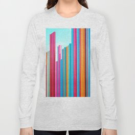 Colorful Rainbow Pipes Long Sleeve T-shirt