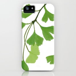 Ginko leaves iPhone Case