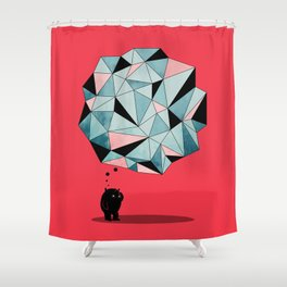 The Pondering Shower Curtain
