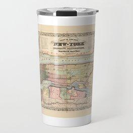 City & County Map of New York (1857) Travel Mug