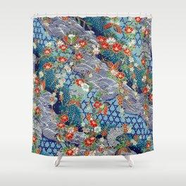 Japanese River Pattern. Shower Curtain