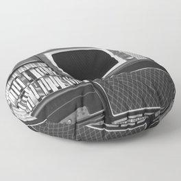 Everything Retro (Black and White) Floor Pillow