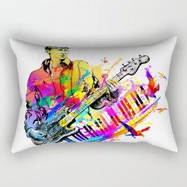 Guitar player. Musician guitarist playing jazz rock music Rectangular Pillow