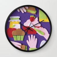 breakfast Wall Clocks featuring Breakfast by Jacopo Rosati