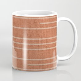 Geometric Art, Colorful Stripes Mudcloth, Terracotta Coffee Mug