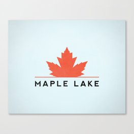 Maple Lake Canvas Print